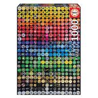 Puzzle 1000 Peças Colagens De Tampinhas Educa