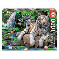 Puzzle 1000 Peças Tigres Brancos De Bengala - Educa Imp