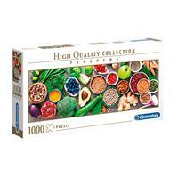 Puzzle 1000 Peças Panorama Vida Saudável - Clementoni - Importado