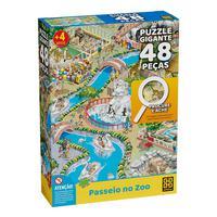 Puzzle Gigante 48 Peças Procure E Ache Passeio No Zoo