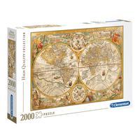 Puzzle 2000 Peças Mapa Antigo, 1594 - Clementoni - Importado