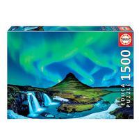 Puzzle 1500 Peças Aurora Boreal, Islândia Educa