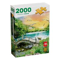 Puzzle 2000 Peças Lagoa Tropical