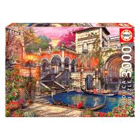 Puzzle 3000 Peças Romance Em Veneza - Educa - Importado