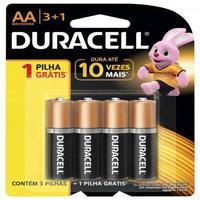 Pilha Alcalina Aa Duracell - Com 4 Unidades - Mn1500b4
