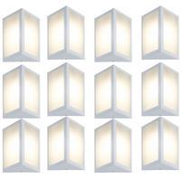 Luminária De Parede Triangular Branco Kit Com 12