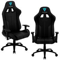 Kit 02 Cadeiras Gamer Office Giratória Com Elevação A Gás Bc3 Preto - Thunderx3